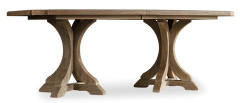 Hooker Furniture - Corsica Rectangle Pedestal Dining Table - 5180-75206