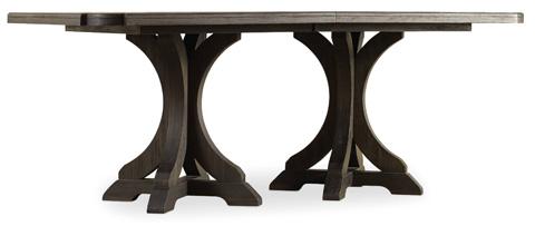 Hooker Furniture - Corsica Dark Rectangle Pedestal Dining Table - 5280-75206