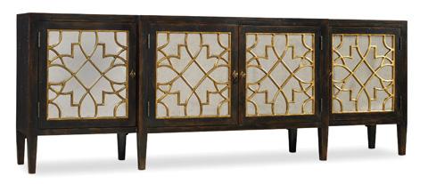 Hooker Furniture - Sanctuary Four Door Mirrored Console in Ebony - 3005-85005