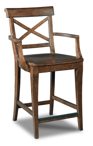Hooker Furniture - Rob Roy X-Back Counter Stool - 300-25008