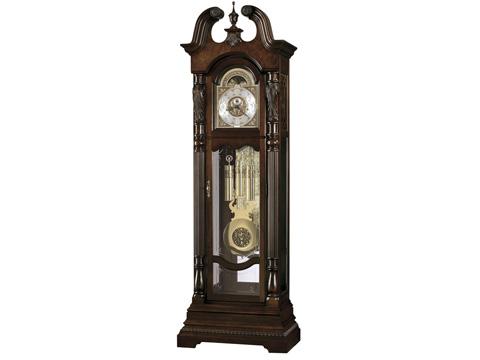 Howard Miller Clock Co. - Lindsay Cherry Bordeaux Floor Clock - 611-046
