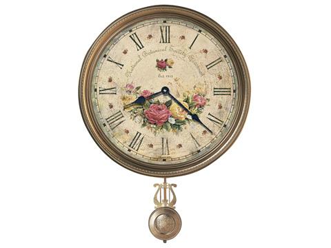 Howard Miller Clock Co. - Savannah Botanical VII Wall Clock - 620-440