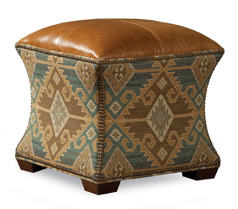 Huntington House - Ottoman with Nailhead Detailing - 7465-55