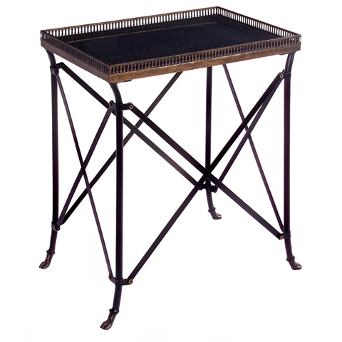 IMAX Worldwide Home - Rectangular Black Accent Table - 12003
