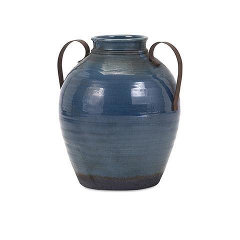 IMAX Worldwide Home - Harrisburg Small Vase with Metal Handle - 13611