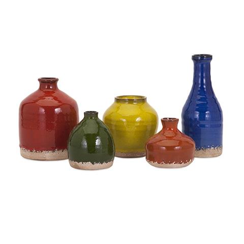 IMAX Worldwide Home - Cameron Mini Vase - Set of 5 - 13620-5