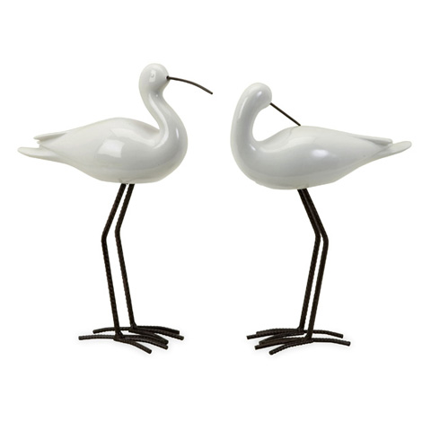 IMAX Worldwide Home - Shire Ceramic Seabirds - Set of 2 - 27300-2