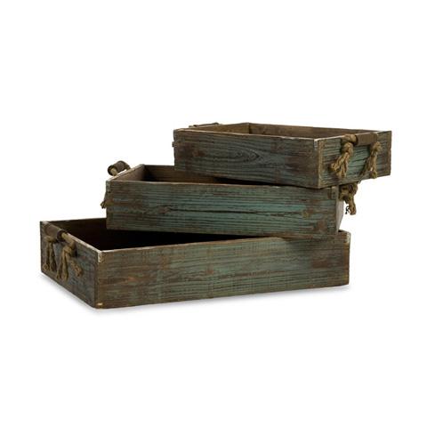 IMAX Worldwide Home - Northfork Wood Trays - Set of 3 - 29106-3
