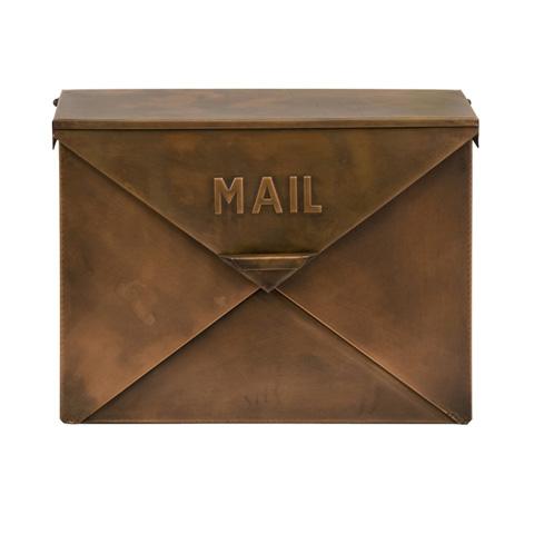 IMAX Worldwide Home - Tauba Copper Finish Mail Box - 44090
