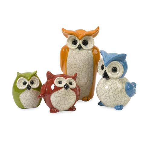 IMAX Worldwide Home - Enchanted Owls - Set of 4 - 50329-4