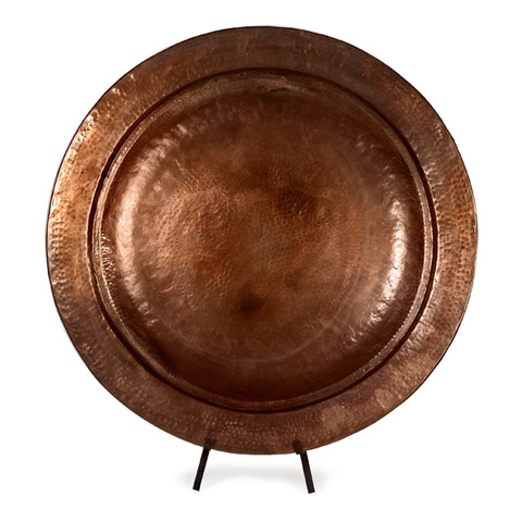 IMAX Worldwide Home - Copper-Plated Charger with Stand - 60004
