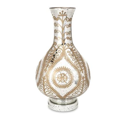 IMAX Worldwide Home - Carmina Oversized Etched Glass Vase - 62114