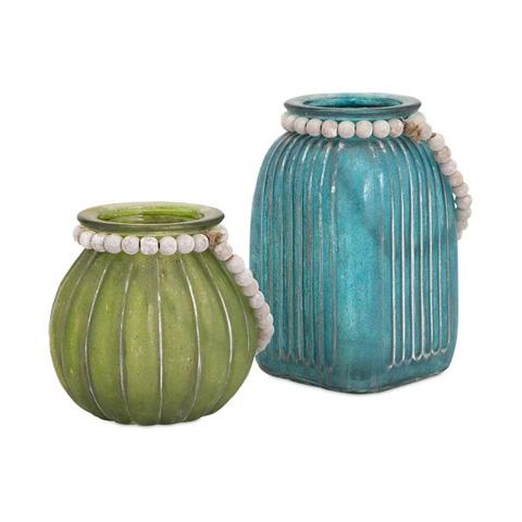 IMAX Worldwide Home - Alta Colored Jars - Set of 2 - 65253-2