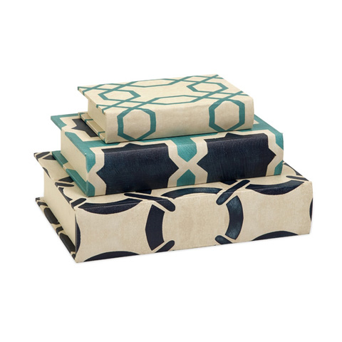 IMAX Worldwide Home - Hadley Book Boxes - Set of 3 - 68035-3