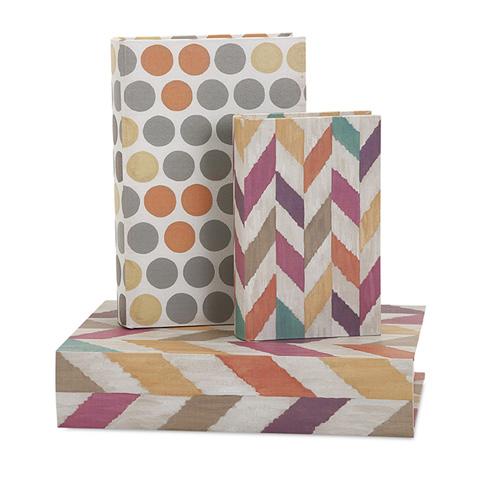 IMAX Worldwide Home - Confetti Book Boxes - Set of 3 - 68177-3