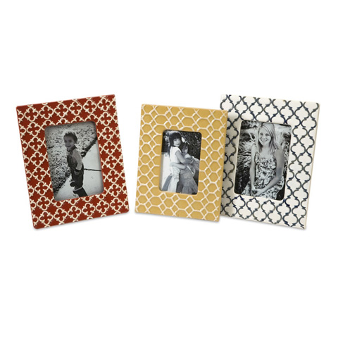 IMAX Worldwide Home - Peters Graphic Photo Frames - Set of 3 - 69260-3