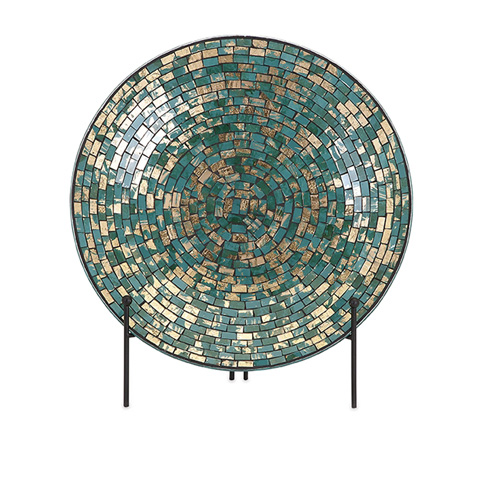 IMAX Worldwide Home - Glacier Mosaic Charger and Stand - 80035