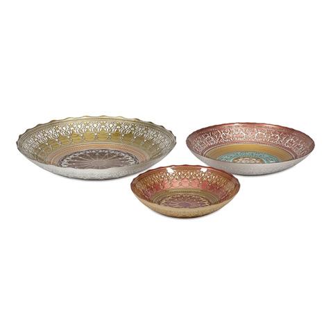 IMAX Worldwide Home - Doge Glass Bowls - Set of 3 - 83191-3