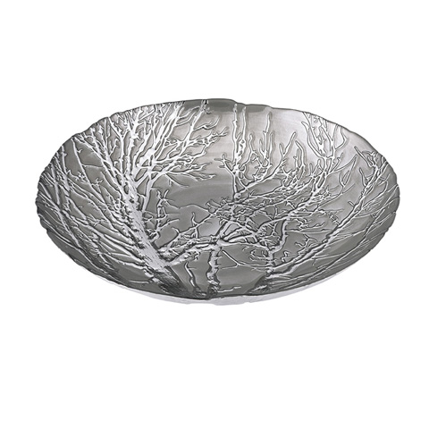 IMAX Worldwide Home - Ethereal Tree Bowl - Silver Plated - 83252