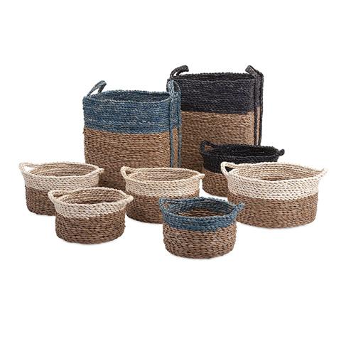 IMAX Worldwide Home - Bennet Woven Baskets - Set of 8 - 85894-8