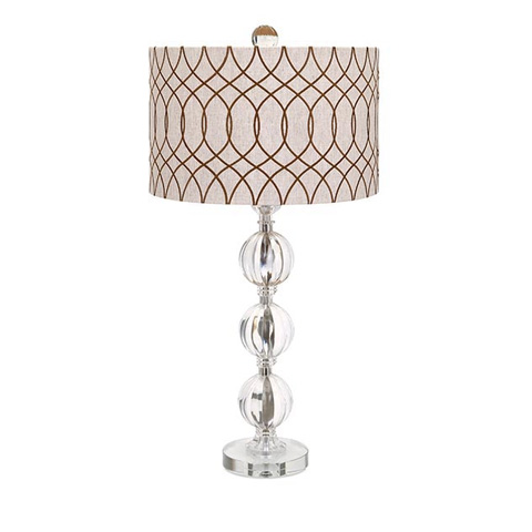 IMAX Worldwide Home - Avena Acrylic And Crystal Table Lamp - 86632