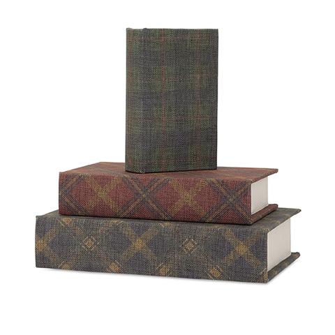 IMAX Worldwide Home - Ski Lodge Book Boxes - Set of 3 - 96421-3