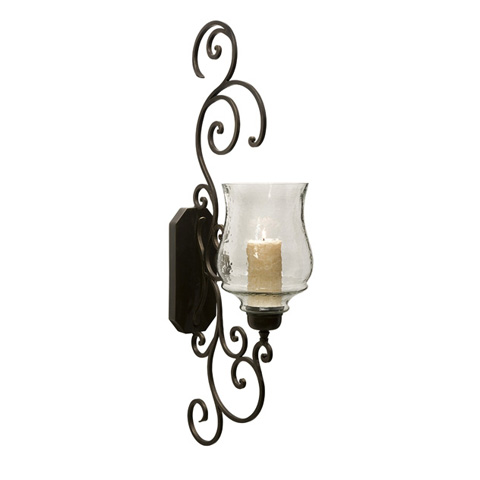 IMAX Worldwide Home - Angelina Grand Scrollwork Candle Sconce - 7024