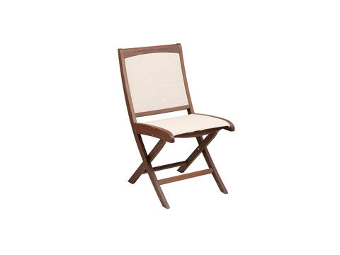 Jensen Leisure Furniture - Topaz Folding Natural Sling Side Chair - 6202N