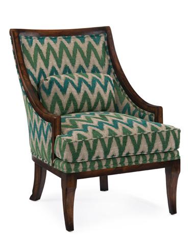 John Richard Collection - Barrel Back Chair - AMF-1005V18-2024-AS