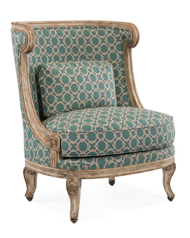 John Richard Collection - Louis XVI Carved Berger Chair - AMF-1044V52-1010-AS