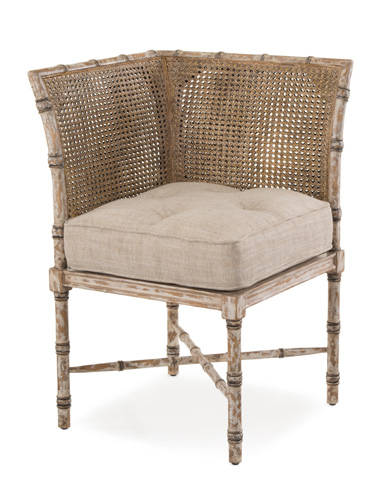 John Richard Collection - French Linen Corner Chair - AMF-1253V52-FRLN-AS