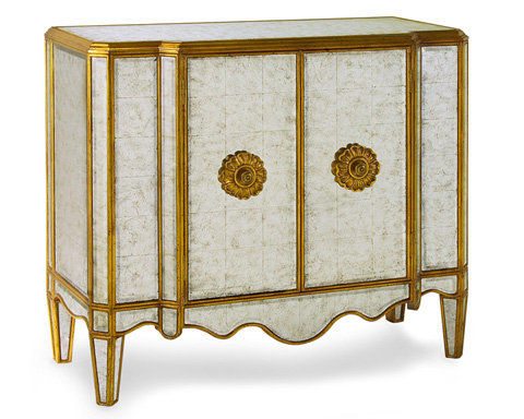 John Richard Collection - Lotus Gold Eglomise Commode - EUR-01-0121
