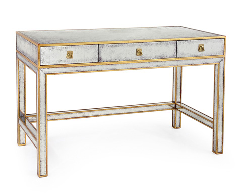 John Richard Collection - Gold and Eglomise Writing Table - EUR-02-0059