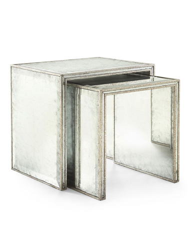 John Richard Collection - Eglomise Nesting Side Tables - EUR-03-0214