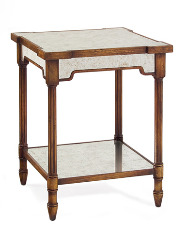 John Richard Collection - Riley Wood and Mirrored Side Table - EUR-03-0248