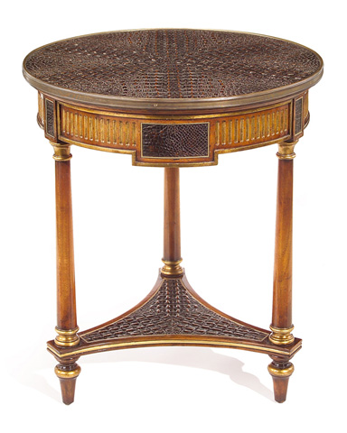 John Richard Collection - Rex Round Lamp Table - EUR-03-0329
