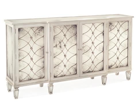 John Richard Collection - Glazed White Breakfront Cabinet - EUR-04-0165