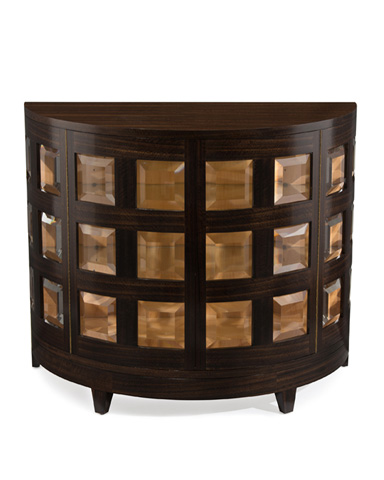 John Richard Collection - Smoked Demilune Cabinet - EUR-04-0226