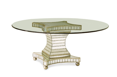 John Richard Collection - Glass Top Dining Table - EUR-10-0001