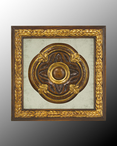 John Richard Collection - Wood Frame with Center Deco - GBG-0346E