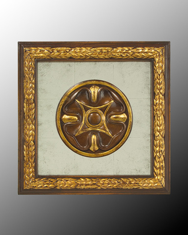 John Richard Collection - Wood Frame with Center Deco - GBG-0346G