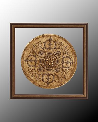 John Richard Collection - Black and Tan Medallion I - GRF-4997A