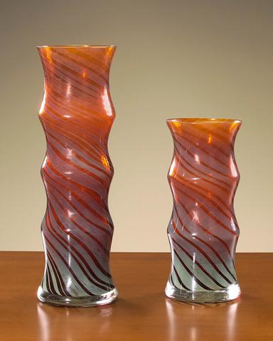 John Richard Collection - Amber Spiral Vase - JRA-6486