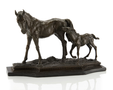 John Richard Collection - Brass Mare and Foal - JRA-7037