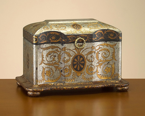 John Richard Collection - Silver and Gold Wooden Box - JRA-7170