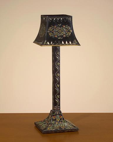 John Richard Collection - Black Floral Metal Candle Holder - JRA-7323