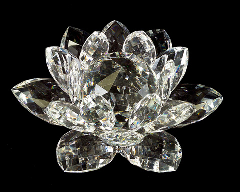 John Richard Collection - Faceted Glass Lotus Blossom - JRA-7769