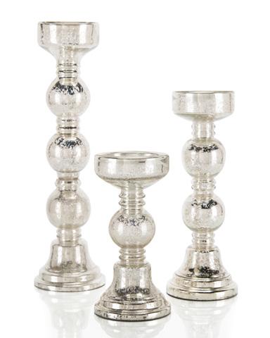 John Richard Collection - Mercury Glass Candle Holder - JRA-7810S3