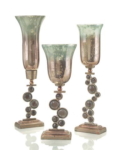 John Richard Collection - Short Glass Candle Holder - JRA-8416