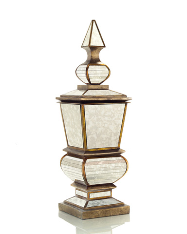 John Richard Collection - Lidded Planter with Antique Mirror - JRA-8434